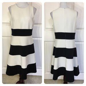 Ann Taylor horizontal stripe dress